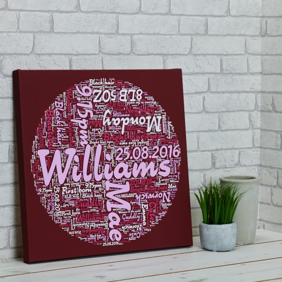 Wordart Canvas - 30 x 30