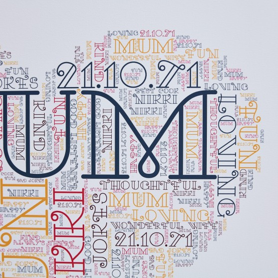 Wordart Canvas - 16 x 16