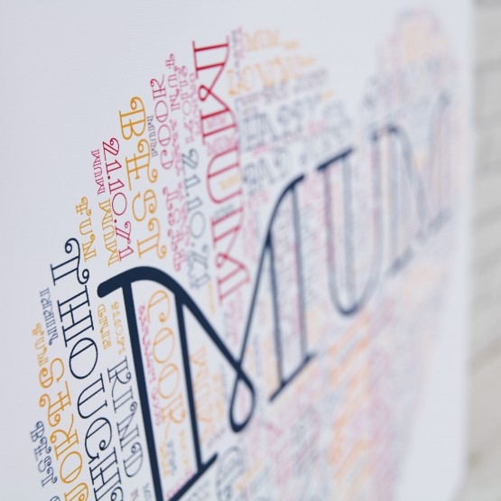 Word Art Canvas Prints