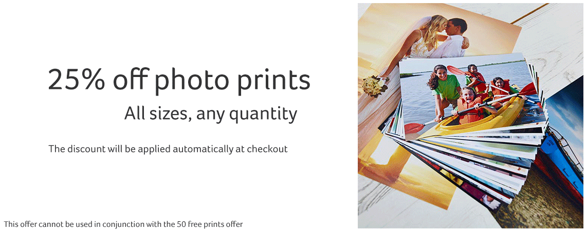25% off all photo prints