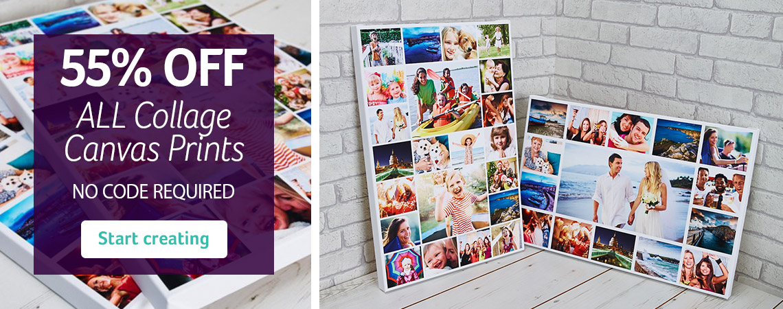 55% Off Collage Canvas Prints