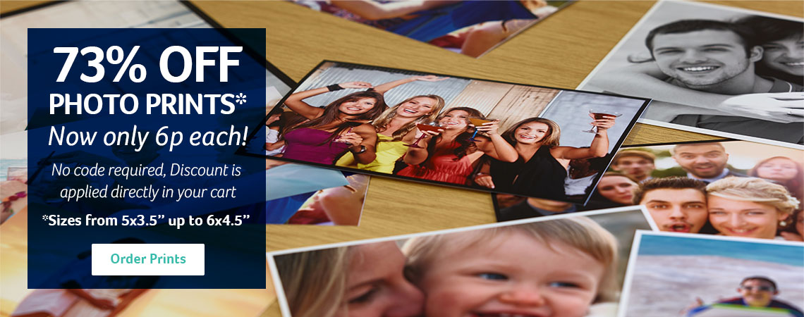 "73% OFF Normal Photo Prints  to 6x4.5"" - Now only 6p each"