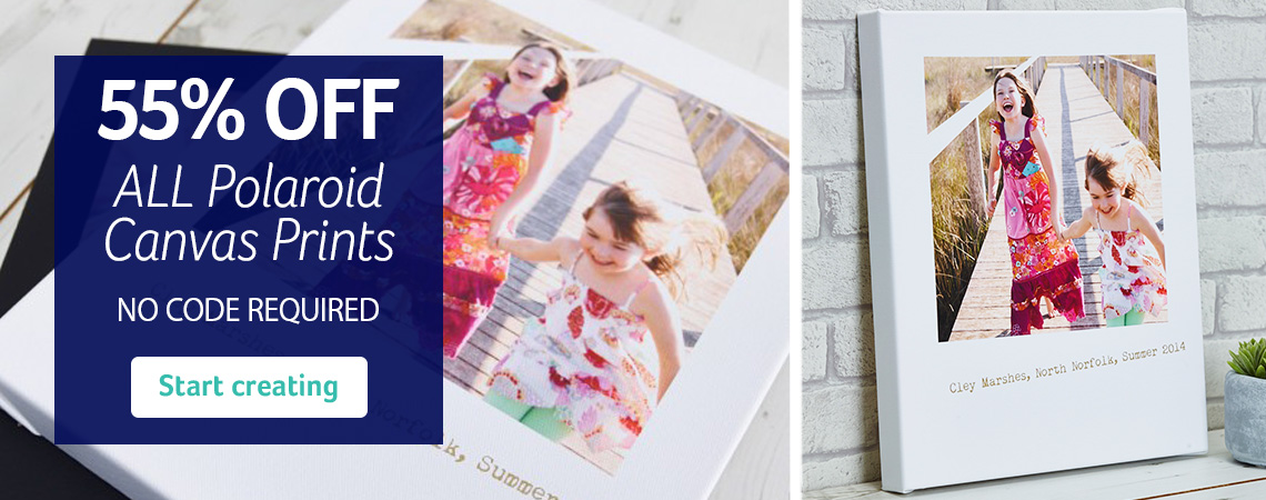 55% Off Polaroid Canvas Prints