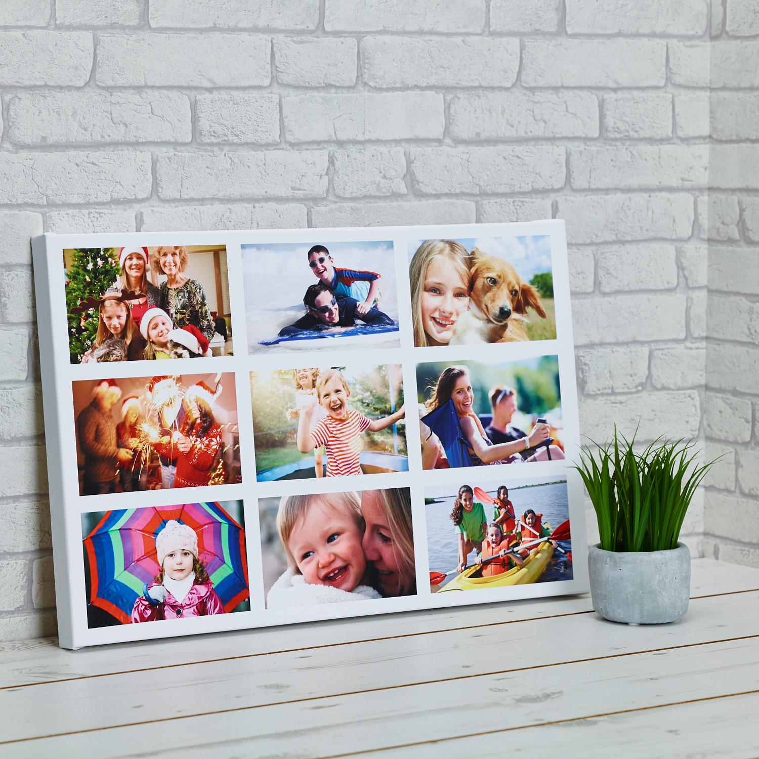 canvas print photo collage canvas 20x20 inch snapmad